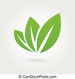 Eco icon green leaf
