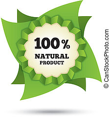 Eco icon green leaf vector. Natural bio food.