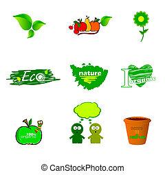eco icon green vector