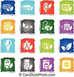eco icon set