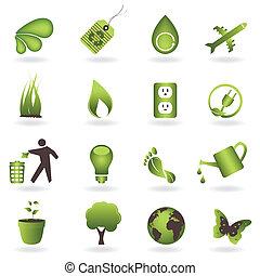 Eco Icon Set - Eco related symbols and icons