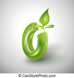 Eco Icon template. Vector. Editable