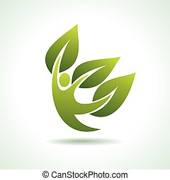 Eco Icon with green dancer
