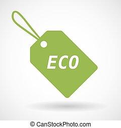eco, icona, isolato, etichetta, testo, prodotto