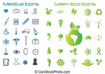 eco, icone mediche