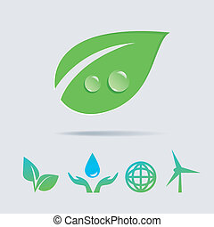 Eco icons vector collection