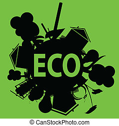 eco in black illustration