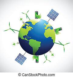 eco,  industrial,  natural, globo, empresa / negocio