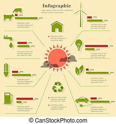 eco, infographic, elementos