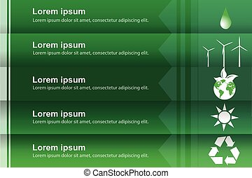 Eco infographic labels design,vector,green