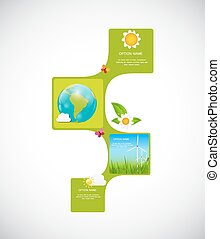 Eco Infographic Templates for Business Vector Illustration