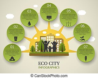 Eco infographics.