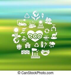 eco, körvonal, életlen, bölcsész, ikonok