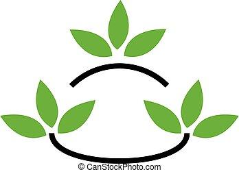 eco, kammeratlig, firma, logo