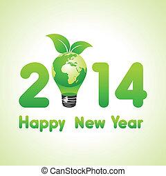 eco, la terre, année, nouveau, créatif