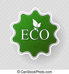 Eco label of organic natural food