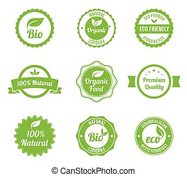 Eco Labels Bio template set.