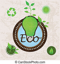 Eco Labels - Different eco-labels to mark a product or...