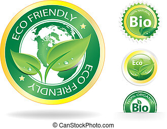 Eco Labels - This image is a vector file representing a ...