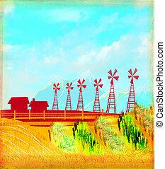 eco, -, landwirtschaft, landschaften