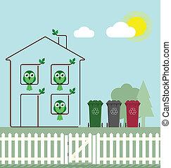 eco, lar, verde
