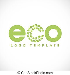 Eco Leaf Abstract Vector Logo Template