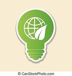 eco leaf design , vector illustration