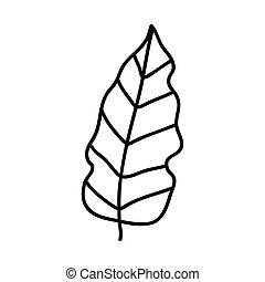 eco leaf drawn