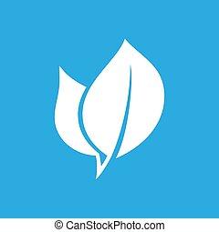 Eco leaf flat icon