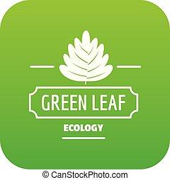 Eco leaf icon green vector