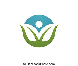 Eco Leaf Logo Template