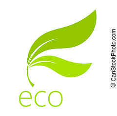 Eco leaf symbol. Vector illustration