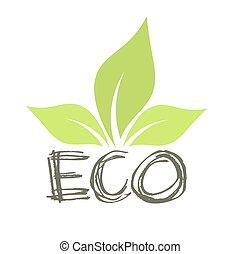 Eco leaf symbol