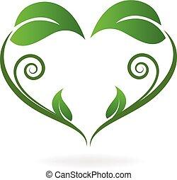 Eco leafs nature logo