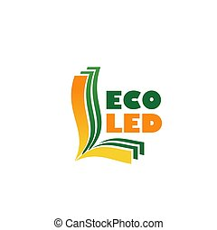 Eco led vector sign