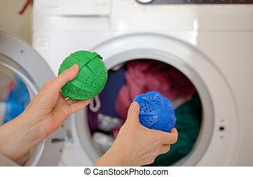 eco, lessive, lavage, sphères