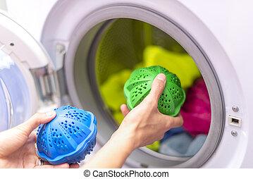 eco, lessive, lavage, thermoplastique, sphères