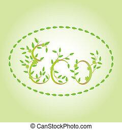 eco, liście, słowo