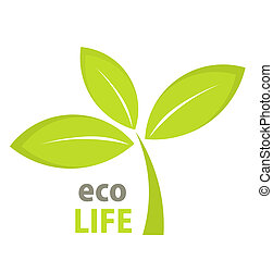 Eco life leaf