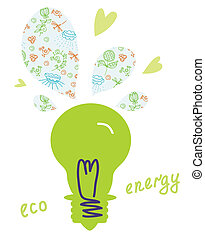 Eco light bulb concept natural energy