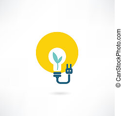 eco light bulb icon