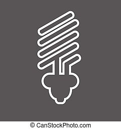 eco light bulb icons