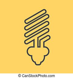 eco light bulb icons
