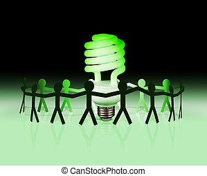 eco, lightbulb, idea