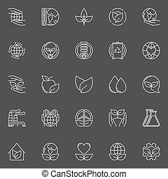 Eco line icons