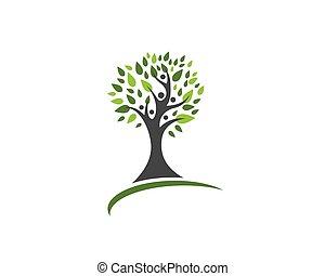 eco, logo, arbre, gabarit