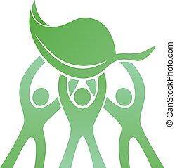 eco, logo, collaboration, amical