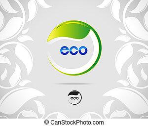 eco, logo, feuille