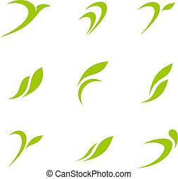 eco, logo, groene