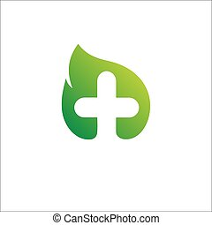 Eco Logo template. Medical Health care Logotype, leaf, concept icon.